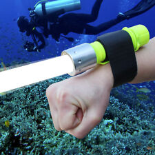 Waterproof CREE T6 LED Diving Flashlights Lamp Torch Light With Wrist Straps