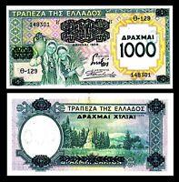 GREECE 1000 1,000 DRACHMAI 1939 P 111 XF Overprited > WW2