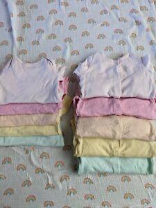 George Baby Girl Polka Dot Pastel Sleepsuits Bodysuits Vests Bundle 3-6 Months
