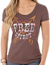 NWT Wrangler LWK512E Women Graphic Free Spirit Short Sleeve Scoop Neck T Shirt L