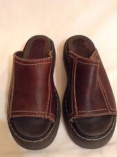High Sierra Women's Tobby Brown Leather Slides Sandals - SIZE 6