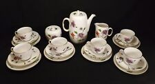 BEAUTIFUL SET OF ROYAL WORCESTER ASTLEY CHINA-COMPLETE COFFEE SERVICE FOR 6