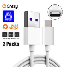 2 x Type C Data Fast USB Charger Charging Cable Cord For Samsung Galaxy S8 S9 +