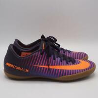 Nike Men's MercurialX Soccer Shoe Sz 7 Purple Black Indoor Cleat