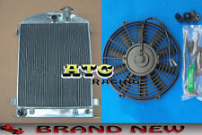 New for 1932 Ford Chopped engine 32 AT/MT Alloy Aluminum Radiator + Fan