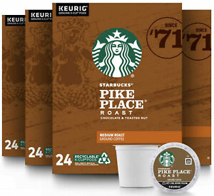 Starbucks Pike Place Medium Roast Coffee K-Cups Pods - 96 Count BEST BEFORE 2.21