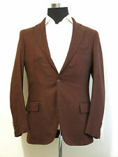 Andrea Campagna mens blazer sport coat jacket NEW! 40-42 burgundy cashmere blend