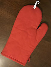 Red Oven Mitt Gauntlet Glove 100 Cotton Kitchen Cooking BBQ Barbecue