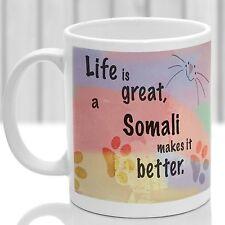 Somali cat mug, Somali cat gift, ideal present for cat lover