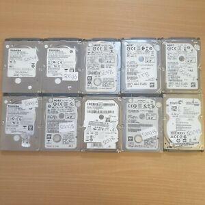"10xJoblot 2.5"" Sata hard-drives  500gb, 750gb, 320gb and 1TB READ DESCRIPTION."