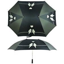 Partnerschirm Regenschirm für 2 Personen schwarz-weiß