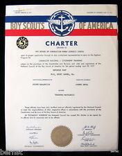 1957 BOY SCOUT - POST CHARTER - POST 161- MOUNT CARMEL, PENNSYLVANIA