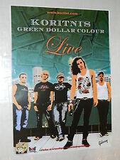 KORITNI'S - Affiche Concert Originale / Original Concert Poster - 50 x 70