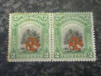 NORTH BORNEO POSTAGE & REVENUE STAMP SG203 2 CENTS PAIR LIGHTLY MOUNTED MINT