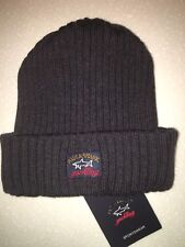 Paul & Shark Winter hat Cap Capello Beanie Dark Grey