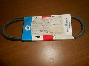 "NOS Mopar 1984 Chrysler Laser OEM Air Pump Drive Belt 2.2L Eng. 23.75"" 4201481"