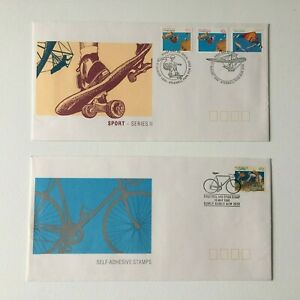 AFD1420) Australia 1990 Sports Series II Cycling Self-Adhesive FDC 2 Covers