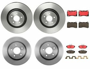 Brembo Front & Rear Brake Kit Disc Rotors Ceramic Pads For Mustang Shelby GT500