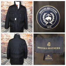 Brooks Brothers Black Down Parka Winter Coat Mens Jacket Size XL