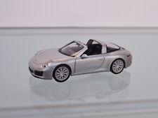 Herpa 038904 - H0 1:87 - Porsche 911 Targa 4S,Rhodium argent métallisé