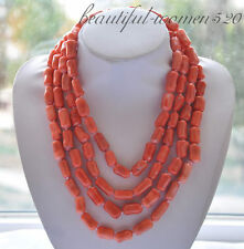 z4857 20mm pink cylinder coral necklace 86inch