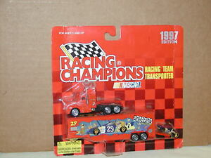 Nascar Cartoon Network #29 Race Car Transporter Racing Champions 1997 Purpl Logo