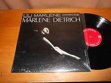Marlene Dietrich 60s FEMALE VOCAL LP Lili Marlene MONO USA ISSUE