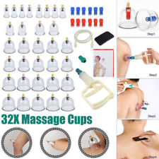 32 Cups Chinese Vacuum Cupping Set Massage Body Therapy Suction Acupuncture
