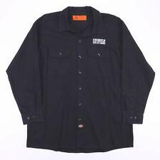 Vintage DICKIES Black Long Sleeve Carwash Worker Shirt Size Men's XL