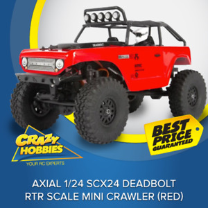 Axial 1/24 SCX24 Deadbolt RTR Scale Mini Crawler (Red) Or (Green) *IN STOCK*