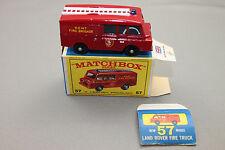 Matchbox Lesney Land Rover Fire Truck / Feuerwehr in OVP No.57