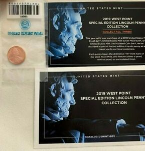 2019 W PROOF LINCOLN CENT PENNY - WEST POINT MINT - SPECIAL EDITION