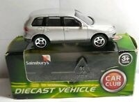 YAT MING SAINSBURY'S CAR CLUB 1:64 SCALE DIECAST VW TOUAREG - SILVER - BOXED