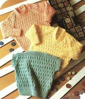 "Baby Girls Boys Sweater Knitting Pattern 18-28"" Double Knitting  106"