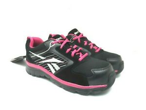 Reebok Work Women's Anomar Athletic Comp. Toe Work Shoe RB454 Black/Pink 7.5W