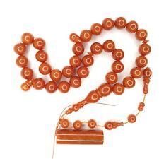 Turkish Amberoid Worry Beads SIKMA Kehribar Tesbih Prayer Tasbih Misbaha Eid 176