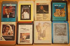 Vintage 8 Track 8 cartuchos de diversos mezclados todos en muy buena condición pedido Gran Selección ST9