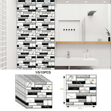 30cm Self-adhesive Waterproof Kitchen Bathroom Home 3d Wall Sticker Tile Brick