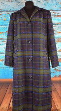 Pendleton Vintage Plaid Full Length Coat Womens fits size 12 14 Excellent Cond!