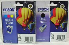 EPSON T019 + T020 autentico EPSON STYLUS 880 BLK & CLR Cartucce di inchiostro-IVA Incl