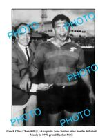 LARGE PHOTO FEATURING CHURCHILL & SATTLER AFTER 1970 SOUTH SYDNEY RABBITOHS G/F