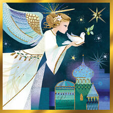 Angel Of Peace Luxury Hand-Finished Christmas Greeting Card Single Xmas Cards