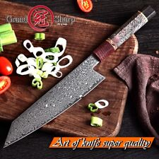 8.2'' Damascus Kitchen Knives vg10 Japanese Damascus Steel Chef Kiritsuke Knife