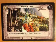 Lord of the Rings CCG Fellowship 1U340 Rivendell Terrace LOTR TCG