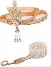 1920s Headband Vintage Bridal Great Gatsby Flapper Costume Dress Accessories WW