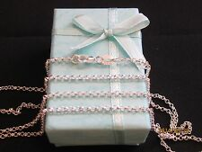 "Necklace 925 Sterling Silver "" ROLO "" Chain 70cm x 2mm Beautiful Gift Idea NEW"