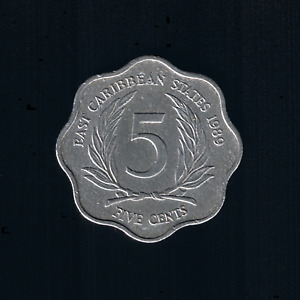 East Caribbean States - 5 Cents - 1989 - KM# 12