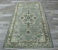 Unique Turkish Vintage Wool Carpet Anatolian Handmade Oriental Area Rug 4x7 ft.