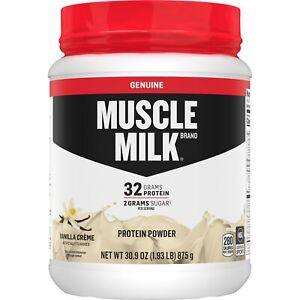 Muscle Milk Genuine Protein Powder - 32g Protein - Vanilla Creme - 1.93 Pound