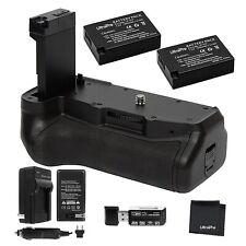 Ultrapro Battery Grip + 2X LP-E17 Battery, Bundle For Canon Rebel T7i, EOS 77D